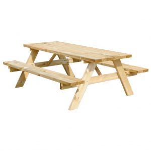 Picknicktafel 180 cm schuin aanzicht