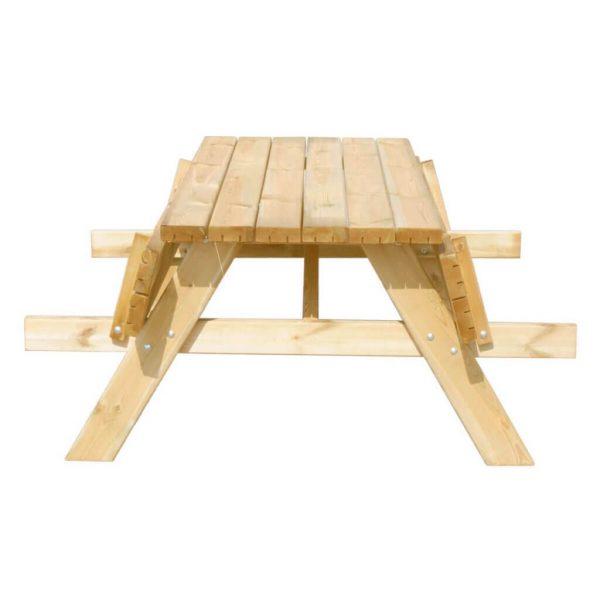 Picknicktafel 180 cm met opklapbare banken